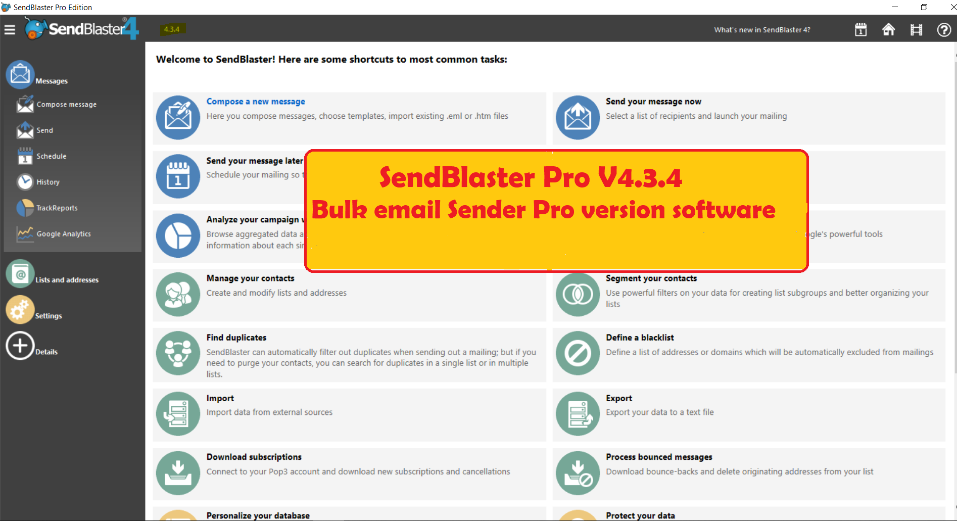SendBlaster Pro V4.3.4 - Bulk email Sender software Pro version | Best  Marketing Tools!